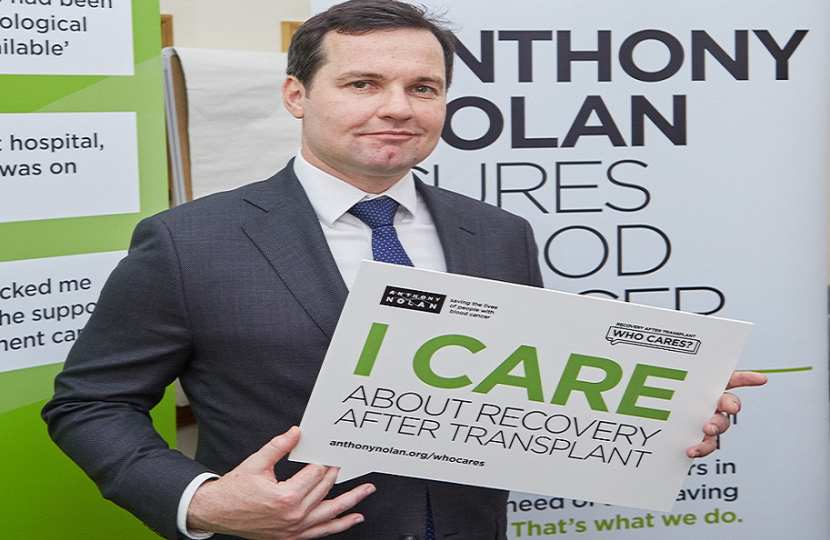 Mp Backs Campaign For Better Post Transplant Care Chris