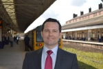 Chris Green MP at Bolton Railway Station